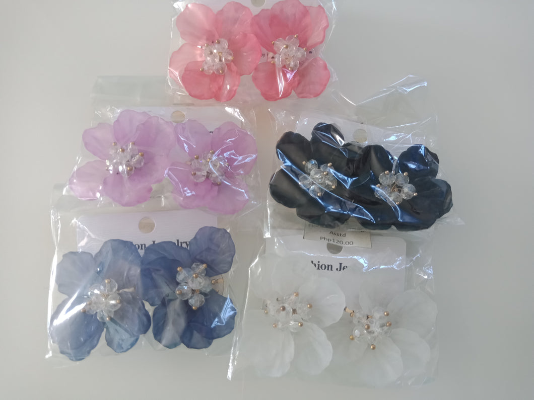BEADS INBOX ETC | FLORAL STUD EARRING ASSTD