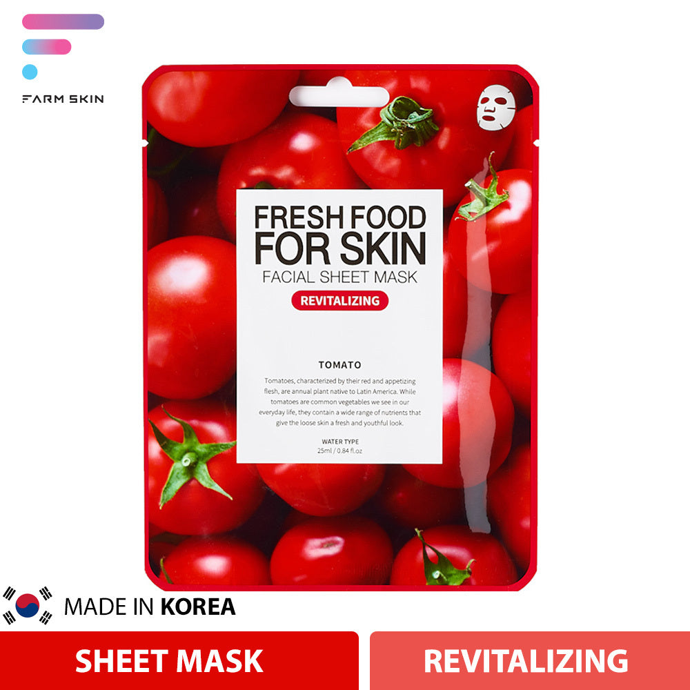 FARMSKIN | FRESH FOOD FOR SKIN FACIAL SHEET MASK (REVITALIZING TOMATO)