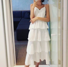Load image into Gallery viewer, STYLE STUNNER | WHITE LAYERED DRESS