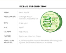 Load image into Gallery viewer, FLIRTINE | NATURE REPUBLIC ALOE VERA 92% SOOTHING GEL 300ML