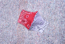 Load image into Gallery viewer, UNDER THE SUN | NAVY/RED DUAL BANDANA FACE MASK NECK STRAP (SIDE PAISLEY) 2