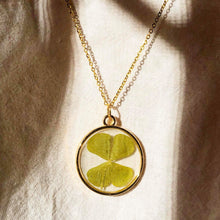 Load image into Gallery viewer, FRIA | TYCHE - PRESERVED FOUR LEAF CLOVER IN RESIN NECKLACE