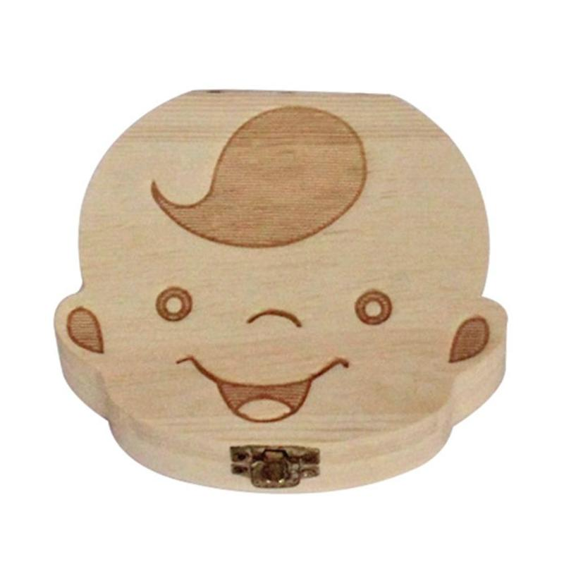 Wooden Baby Teeth Storage Box