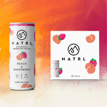 Load image into Gallery viewer, Hard seltzer uk go NATRL Peach & Raspberry