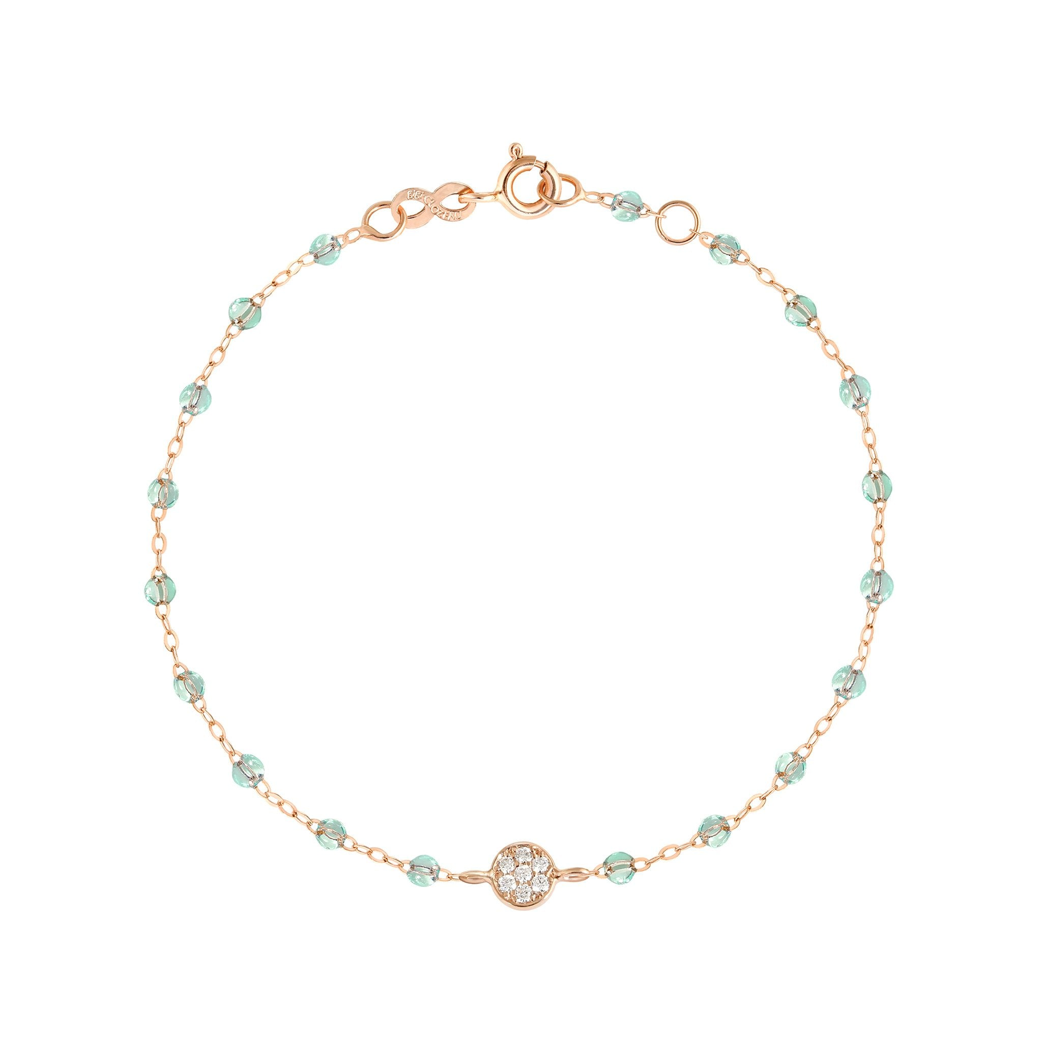 Gigi Clozeau - Bracelet Ice Puce diamants, or rose, 17 cm
