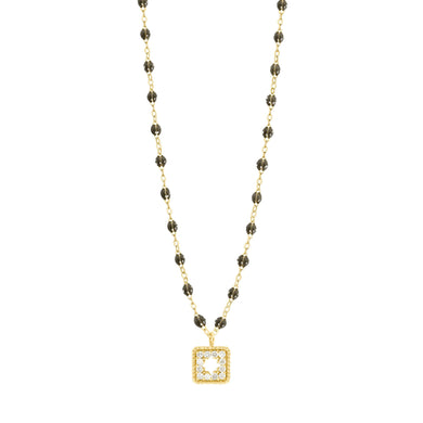 Gigi Clozeau - Collier quartz Trésor, diamants, or jaune, 42 cm