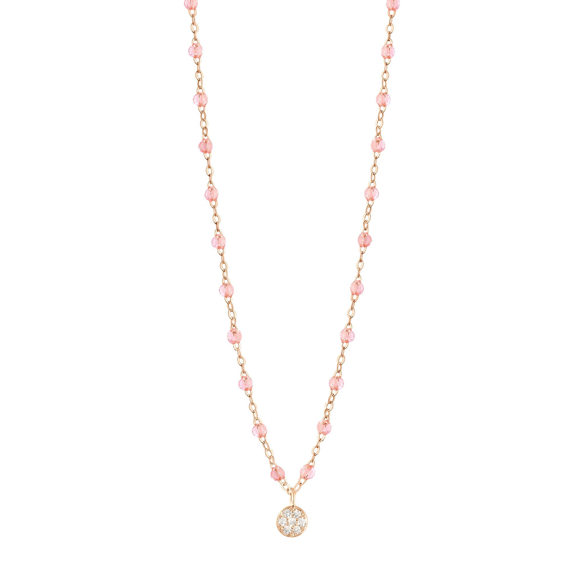 Gigi Clozeau - Collier rosée Puce diamants, or rose, 42 cm