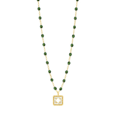 Gigi Clozeau - Collier scarabée Trésor, diamants, or jaune, 42 cm