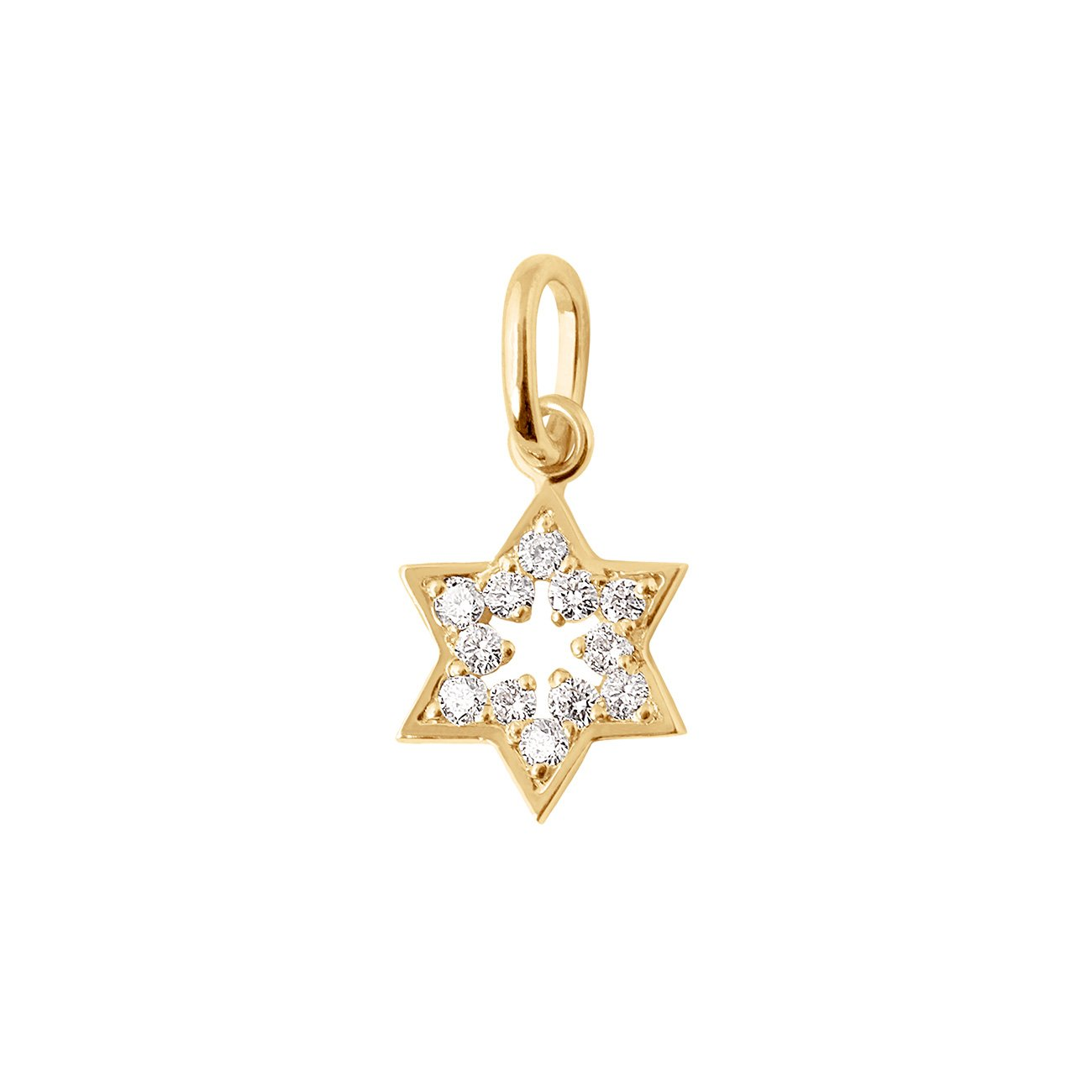 Gigi Clozeau - Pendentif Etoile de David, diamants, or jaune