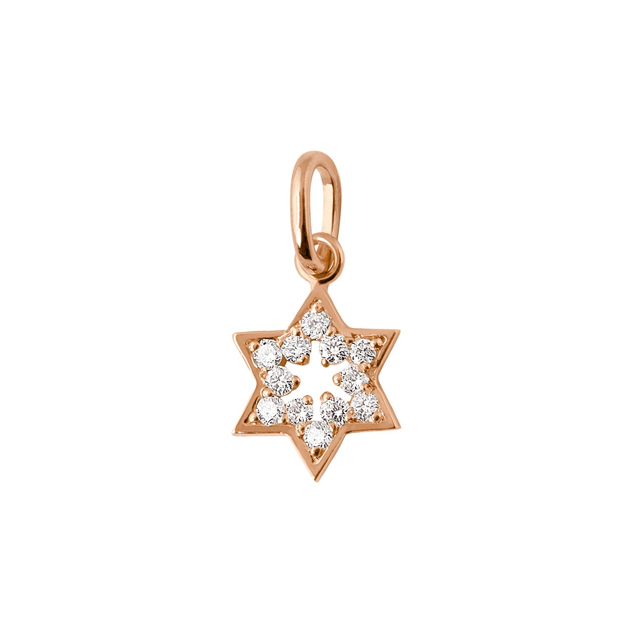 Gigi Clozeau - Pendentif Etoile de David, diamants, or rose