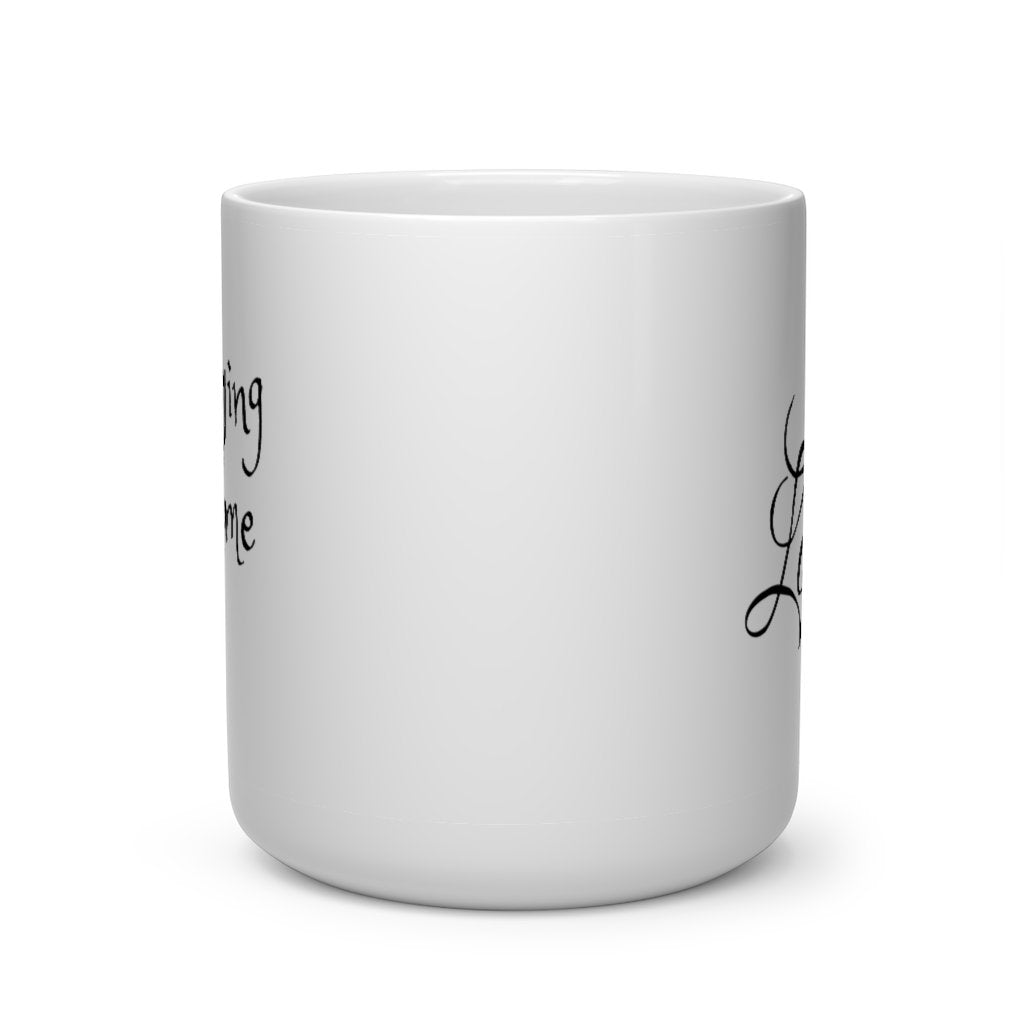 Heart Shape Love Staying home White Ceramic Mug - Ezi Gadgets