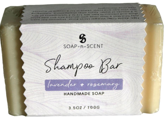 Solid shampoo, 100g, lavender & rosemary