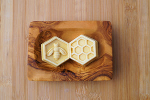 Mini hexagonal lavender and honey soap bar