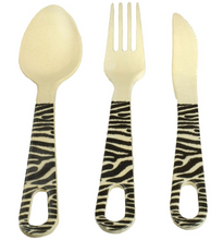 Load image into Gallery viewer, Bamboo cutlery set, different designs
