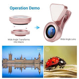 LED Selfie Flash Light Beauty Wide angle Macro Phone Lens