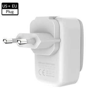 2 IN 1 USB Charger Adapter + LED Small Night Lamp
