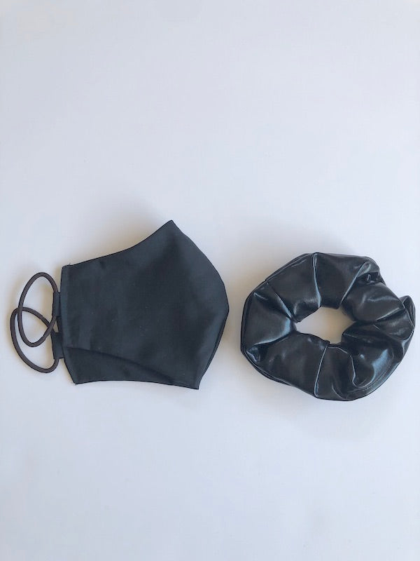 Handmade Black Cotton Face Mask