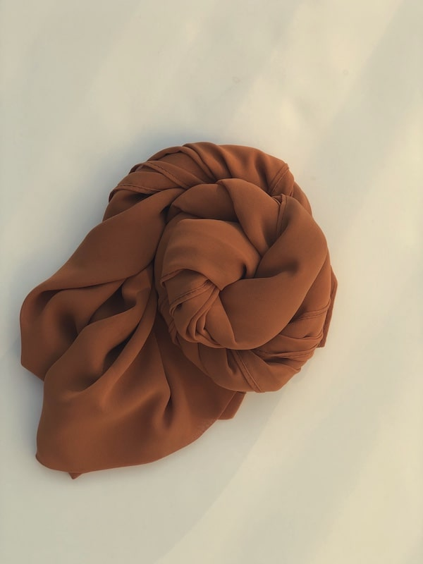 Bronze Orange Chiffon Hijab