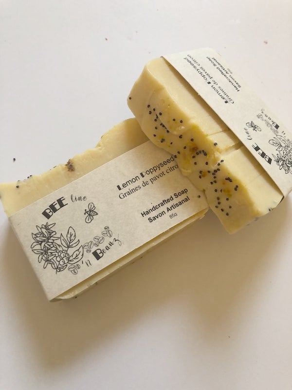 Natural Soap Bar For Hands And Body - Lemon Poppy Seed
