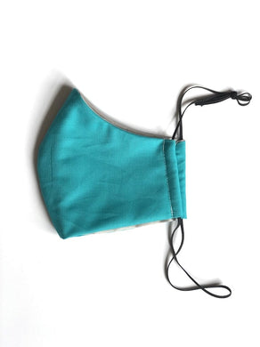 Handmade Face Mask In solid teal
