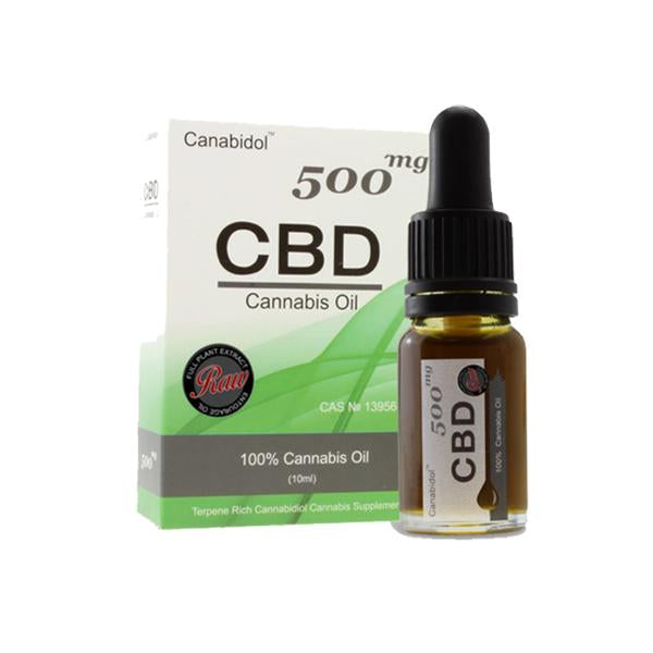 Canabidol 500mg CBD Raw Cannabis Oil Drops 10ml - YUVAPE ONLINE STORE