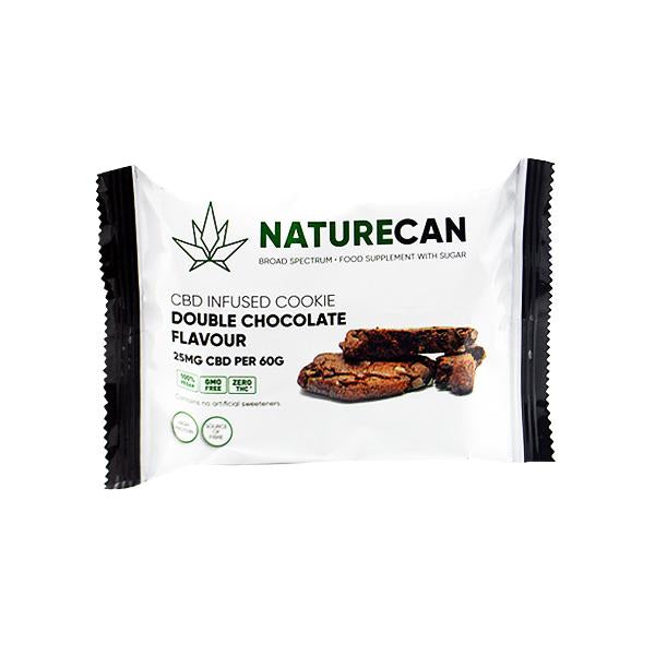 Naturecan 25mg CBD Double Chocolate Cookie 60g - YUVAPE ONLINE STORE