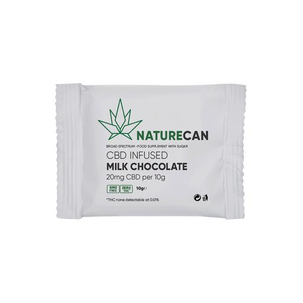 Naturecan 20mg CBD Infused Milk Chocolate 10g - YUVAPE ONLINE STORE