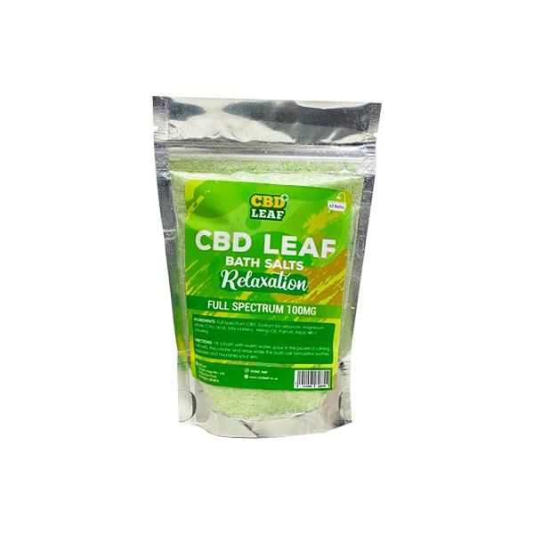 CBD Leaf Full Spectrum 100mg CBD Bath Salts - Relaxation - YUVAPE ONLINE STORE