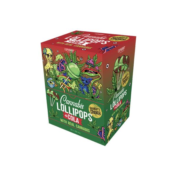 Euphoria Big Pack Cannabis + Cola Lollipops 12g x 200pcs - YUVAPE ONLINE STORE
