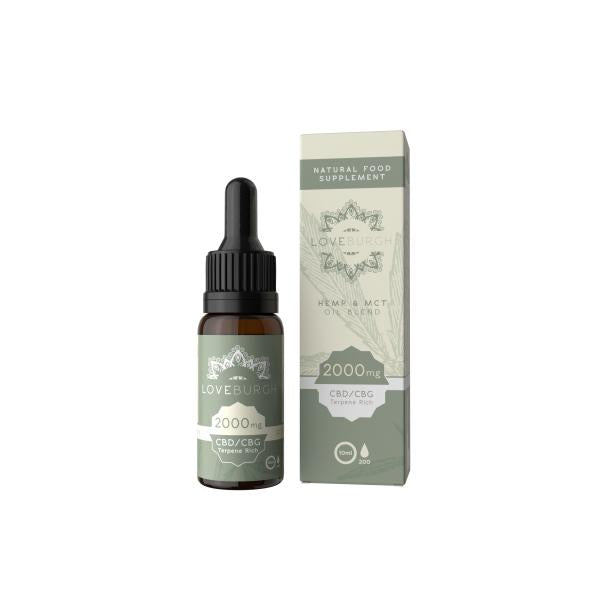 Loveburgh 2000mg MCT CBD Oil 10ml - YUVAPE ONLINE STORE