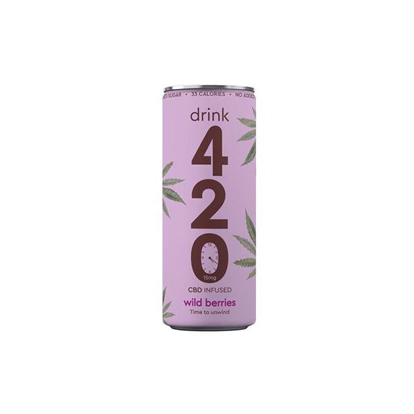 Drink 420 CBD 15mg Infused Sparkling Drink - Wildberry - YUVAPE ONLINE STORE