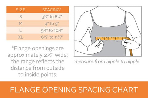 Flange Spacing Chart