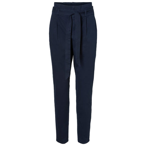 Vero Moda - High Waist Paperbag Broek - Night Sky