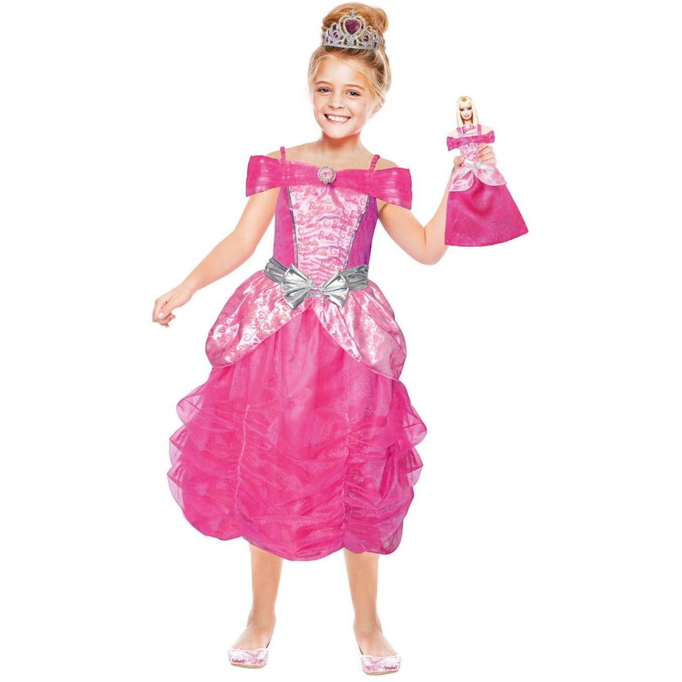 Amscan - Barbie Hart Prinses & Mini me - Maat 116 (5-7 jaar)