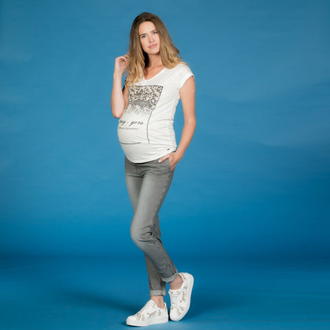 Love2wait - Jeans Striped Blue/Grey
