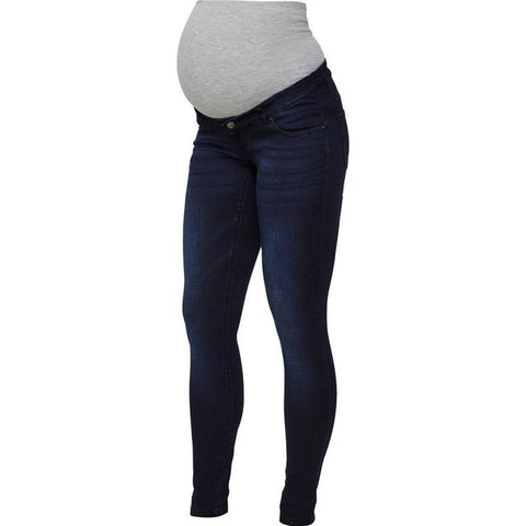 Mamalicious - Slim Fit Maternity Jeans Blue - Maat 30/32
