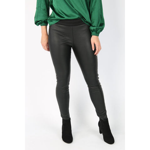 Vero Moda - Zwarte legging in leerlook - Storm