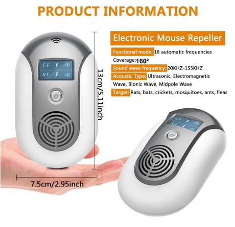 Electronic Ultrasonic Pest Repeller product information