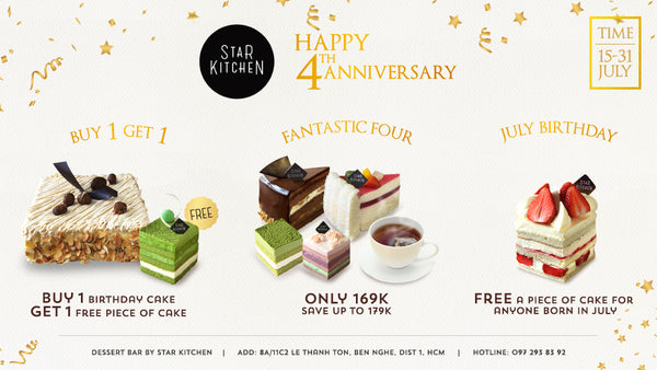 SPECIAL PROMOTION – 4th ANNIVERSARY – STAR KITCHEN
