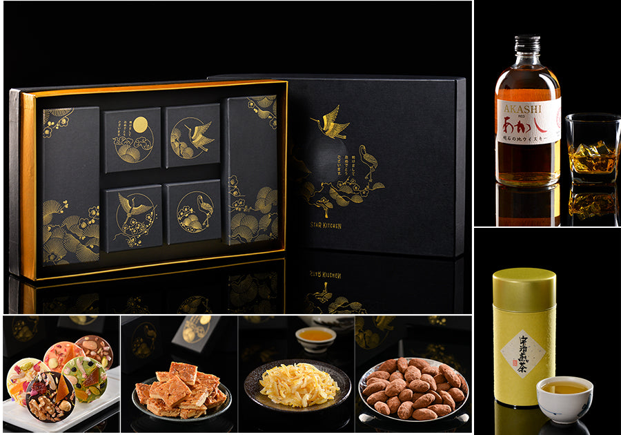 Deluxe set DM1 (Whiskey+Sencha+4 sweets)