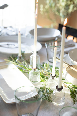 Advent Candle Holders with Candles
