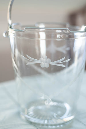 Antique Glass Ice Bucket Vase