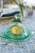 Antique/Vintage Green Glass Butter Dish with Lid