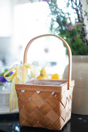 May Day Basket with Ribbon