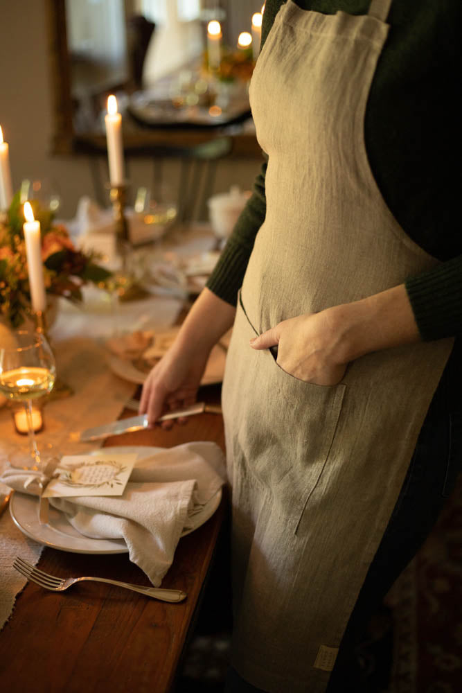 Natural Linen Daily Apron