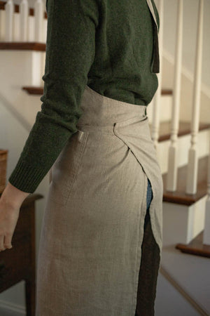 Natural Linen Chef Apron