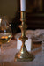 Aged Brass Candlesticks - Mismatched Set of 5