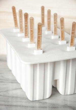 Classic Popsicle Mold with Summer Popsicle Sticks
