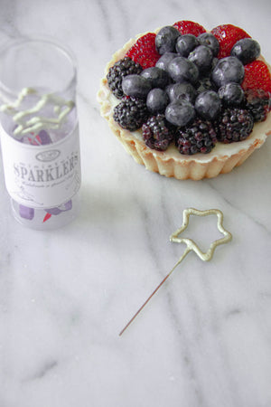 Mini Gold Star Cake Sparklers 4th of July