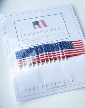 Celebration Picks - U.S. Flag